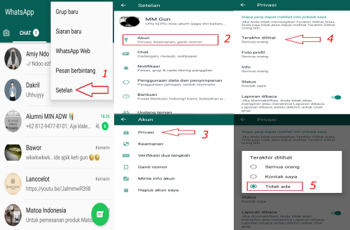 setting privacy whatsapp