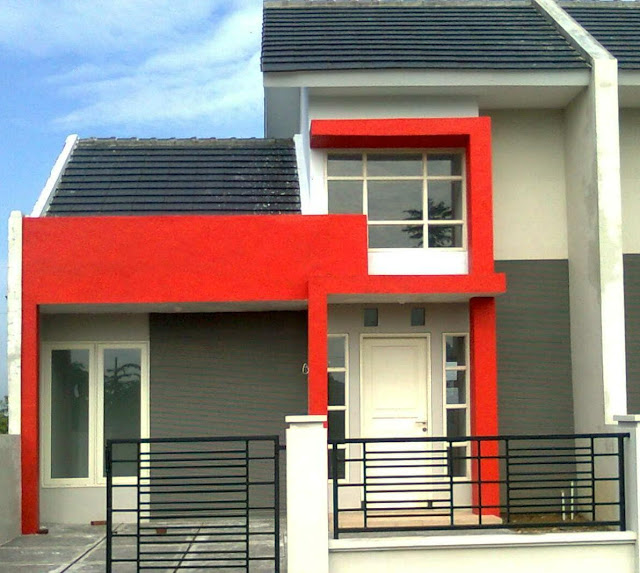 model teras depan rumah type 36