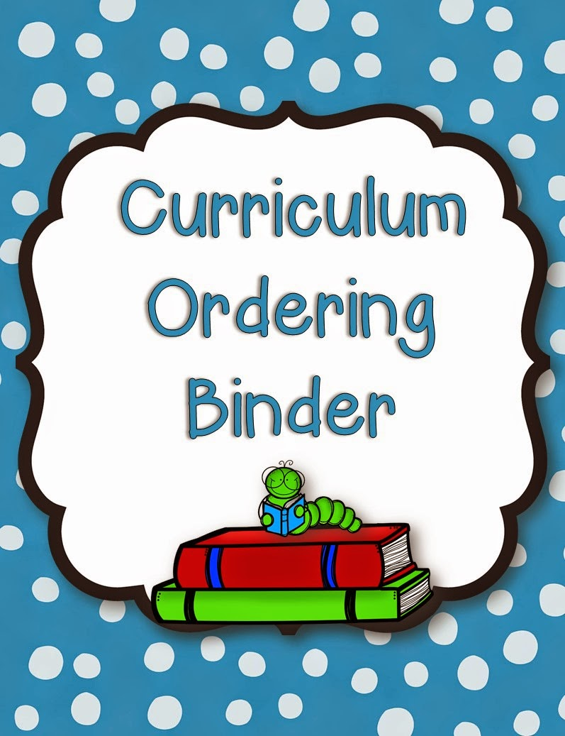 Curriculum Ordering Cover - Mrs. B's Beehive