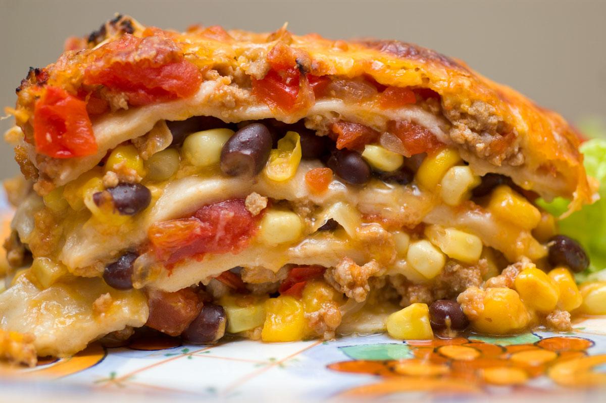 Mexican lasagna gluten free and vegetarian spinach and feta lasagna