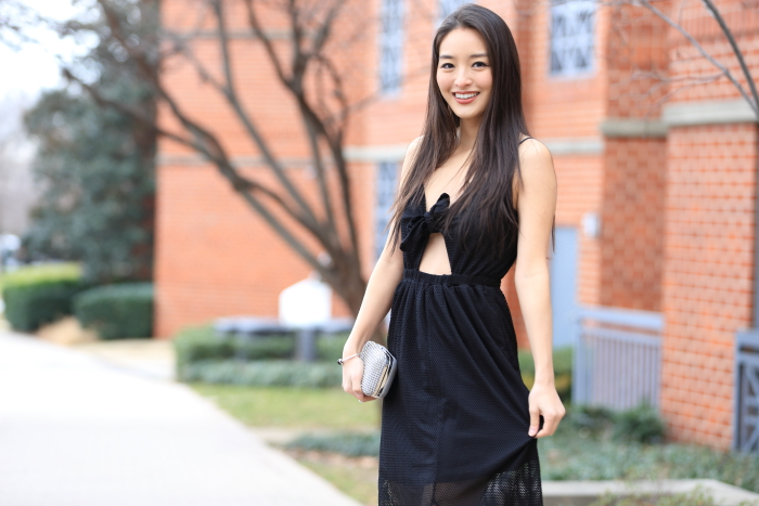 korean fashion blogger in LBD