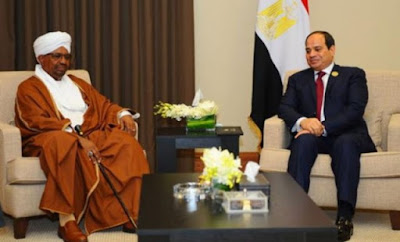 الرئيسان المصري عبدالفتاح السيسي والسوداني عمر البشير