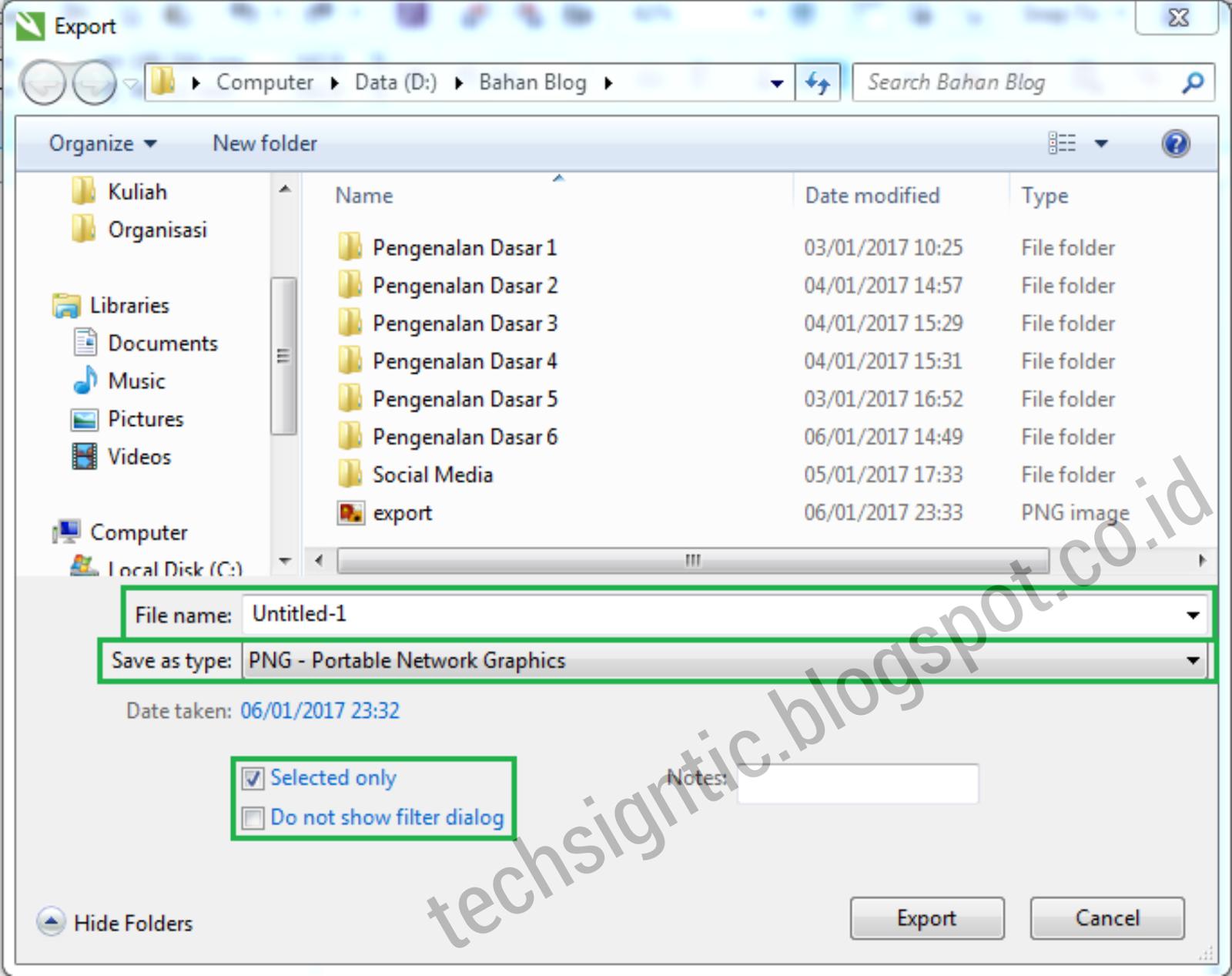 Tutorial Export File CorelDraw X7 ke JPG dan PNG - TechSigntic