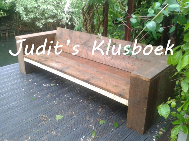 juditsklusboek tuinbank steigerhout diy