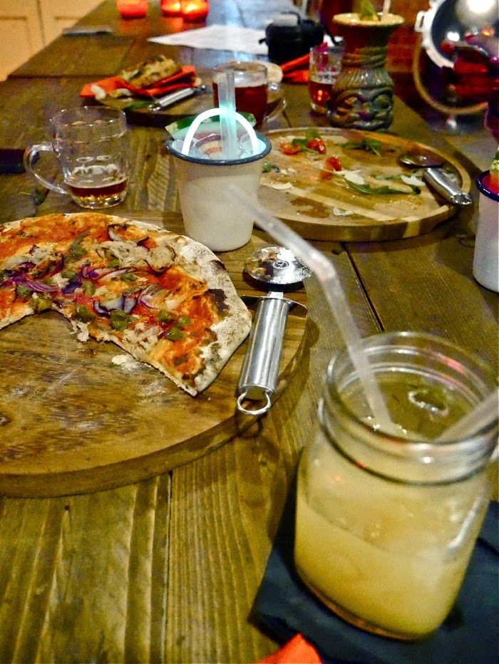 Pizza and Cocktails at Brewhaus