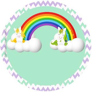 Encantadores Unicornios: Toppers y Wrappers para Cupcakes para Imprimir Gratis.