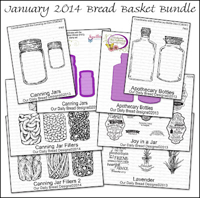 Stamps - Our Daily Bread Designs January 2014 Bread Basket Bundle