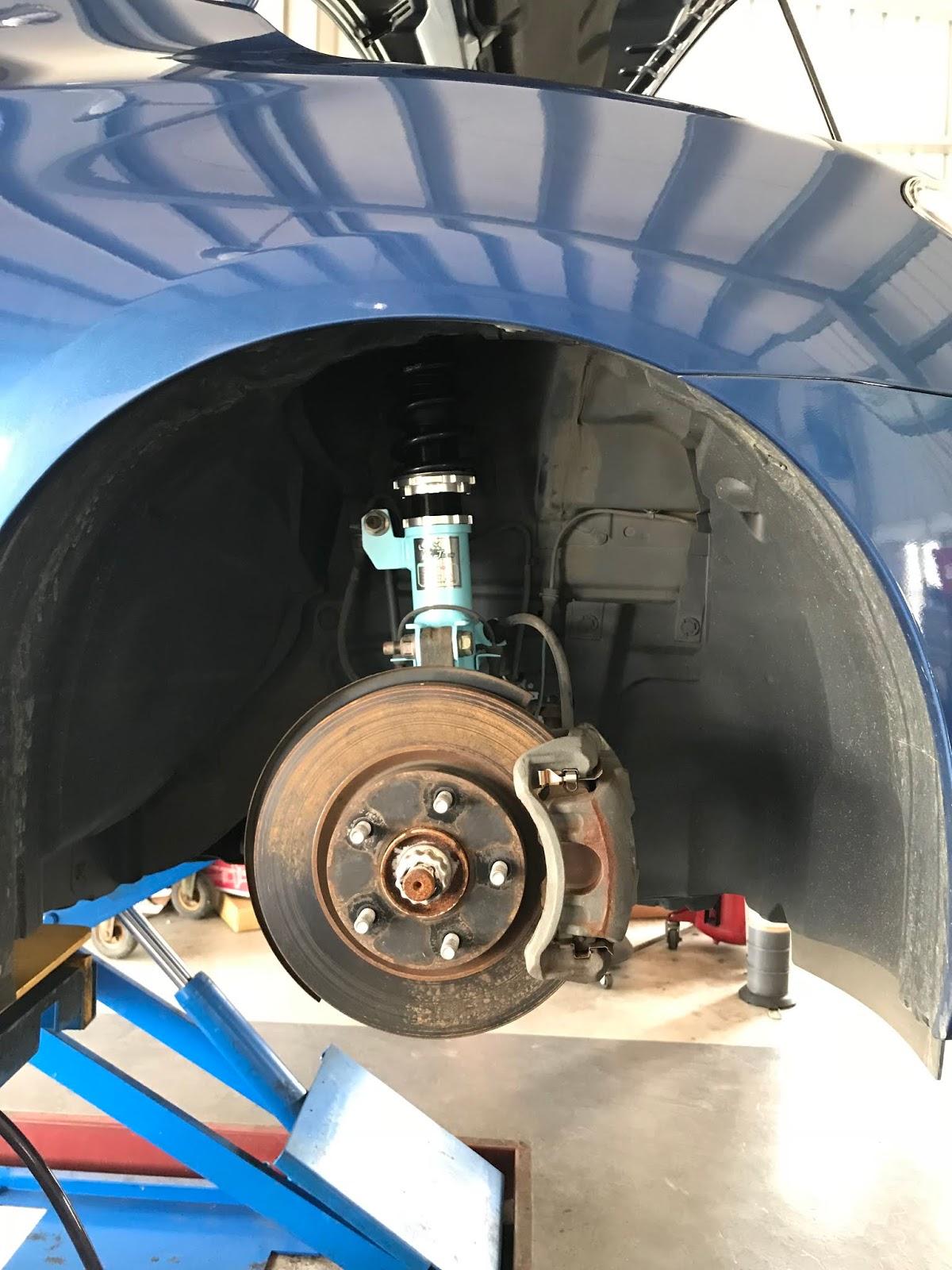 建辰汽車工作室: SUPER SENTRA 降低 KT避震器 改裝避震器
