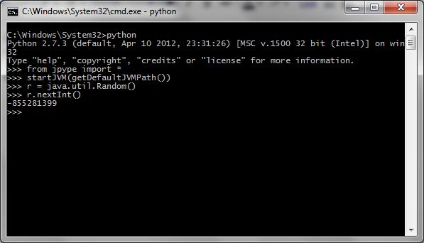 Simple example using Jython and JPype | Core Dump -- Godson Gera's Blog