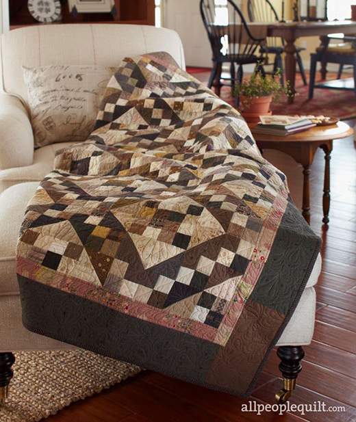 Chocolate Sparkle Quilt Free Pattern