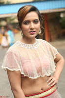 Aafia Bhardwaj looks stunning in transparent pink small choli chunni ghargra at launch of India Silk Expo ~ Exclusive Celebrity Galleries 145.JPG
