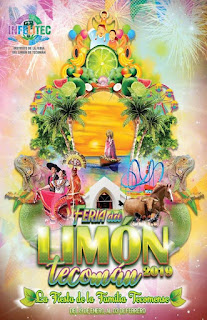 cartel feria del limón tecomán 2019