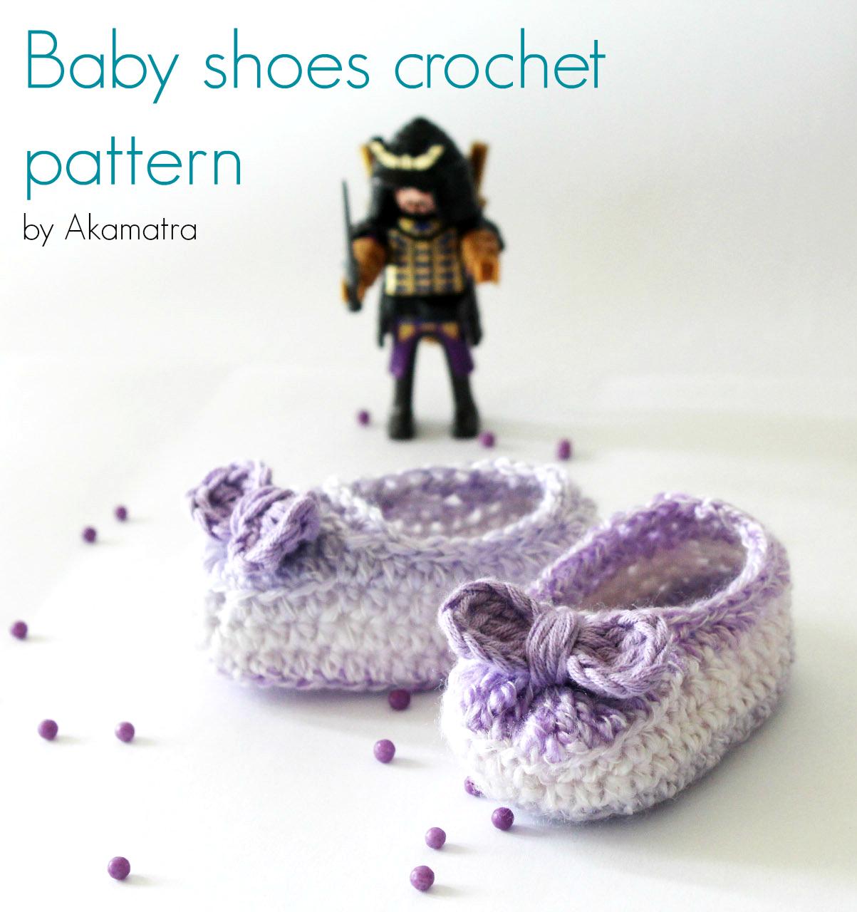 Baby shoes crochet pattern - Akamatra