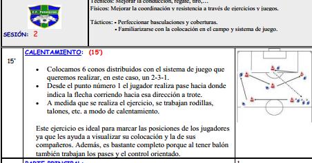 -: ENTRENAMIENTO FÚTBOL BENJAMÍN: 12 SESIONES COMPLETAS