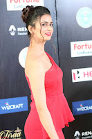 Meenakshi Dixit in Red One Shoulder Red Zipped up gown at IIFA Utsavam Award 22.JPG