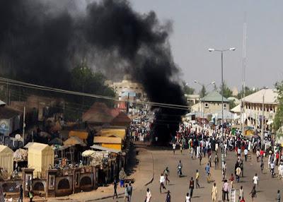 Happening  now: Again bomb explosion rips through Maiduguri