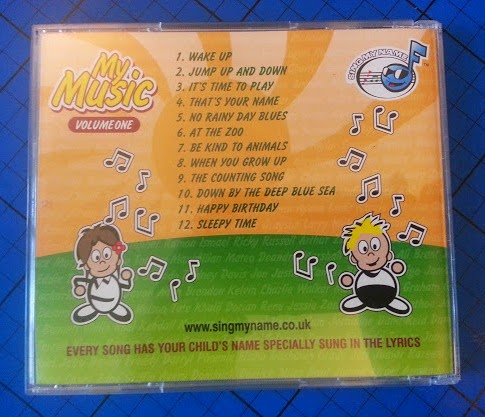 Sing My Name personalised children's music CD tracklist