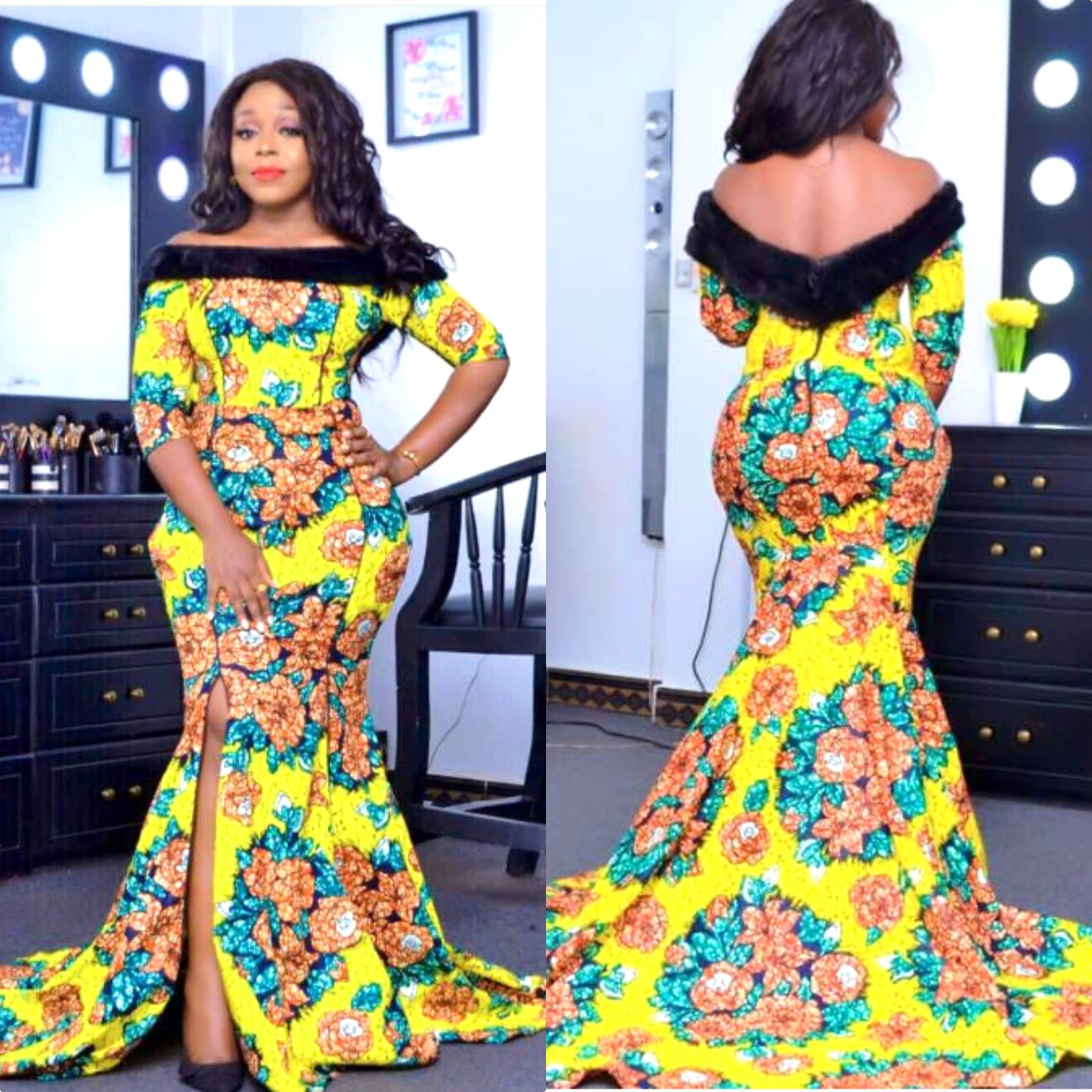 KITENGE FASHION LONG DRESSES DESIGNS