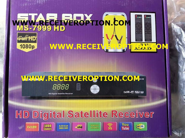 STAR BOX MS-7999 HD RECEIVER POWERVU KEY ORIGINAL NEW SOFTWARE