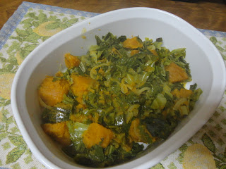 Bok Choy(Chinese Cabbage) and Pumpkin Saute