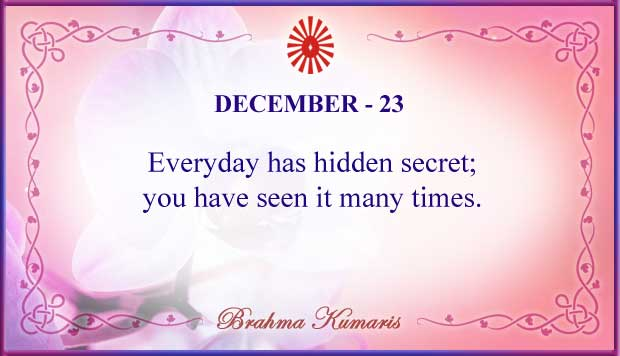 Thought For The Day December 23