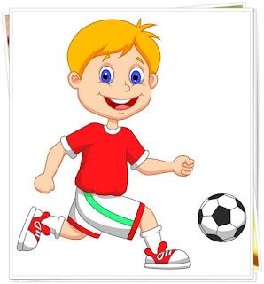 gambar mewarnai pemain sepakbola anak-anak