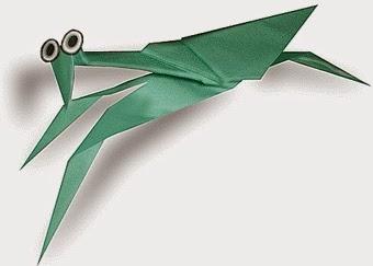 Cách gấp, xếp con bọ ngựa bằng giấy origami - Video hướng dẫn xếp hình côn trùng - How to fold a Mantis