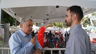Ο Βαγγέλης Αυγουλάς με τον Περιφερειακό Σύμβουλο κ. Ξυλούρη