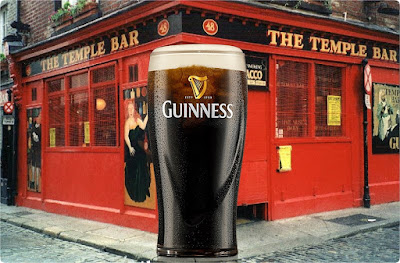 Huge Pint of Guinness Outside A Temple Bar Pub