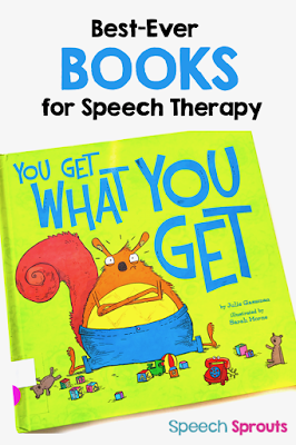 Best-Ever Books for Speech Therapy! This adorable story is terrific for teaching social skills in speech therapy. Melvin doesn't always deal with disappointment well. Until he learns about this terrible rule... read this blog post to learn more!  #speechsprouts #socialskills #speechtherapy #storybooks