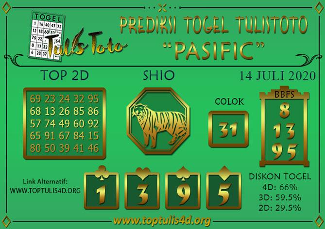 Prediksi Togel PASIFIC TULISTOTO 14 JULI 2020