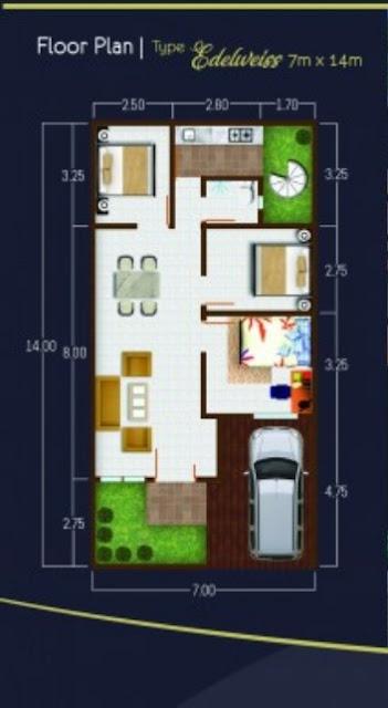 Floor Plan Perumahan The Flamboyan Suite Medan Dengan Konsep Minimalis Tropis Di Simpang Pemda Setiabudi Ring Road Medan