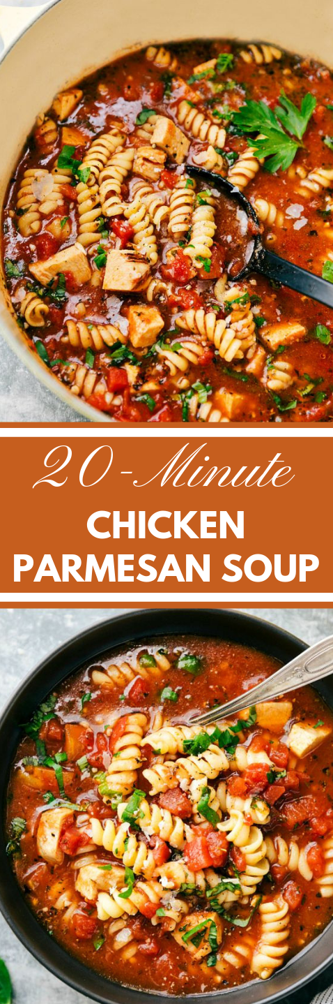 20-MINUTE CHICKEN PARMESAN SOUP #parmesan #healthyfood