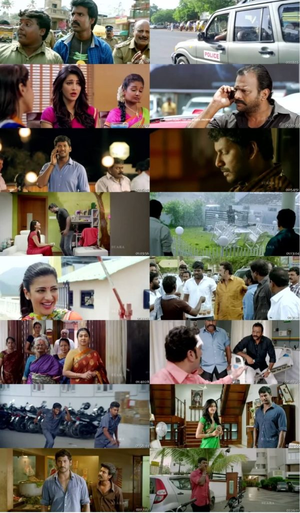Screen Shot Of Tollywood Movie Poojai 2014 Full Movie In Hindi Dubbed Free download 720P HD