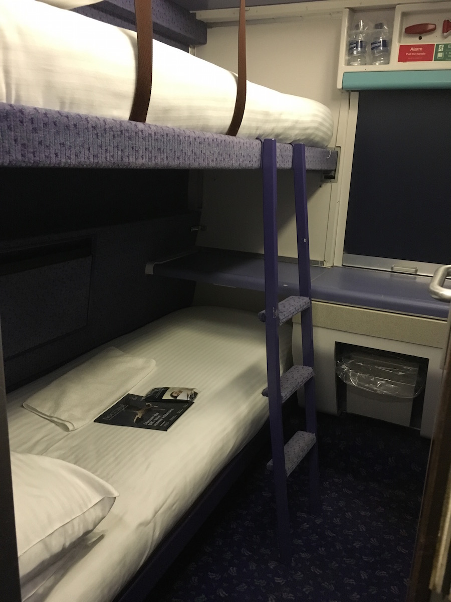 Caledonian Sleeper train - Standard Cabin | FitBits Tess Agnew