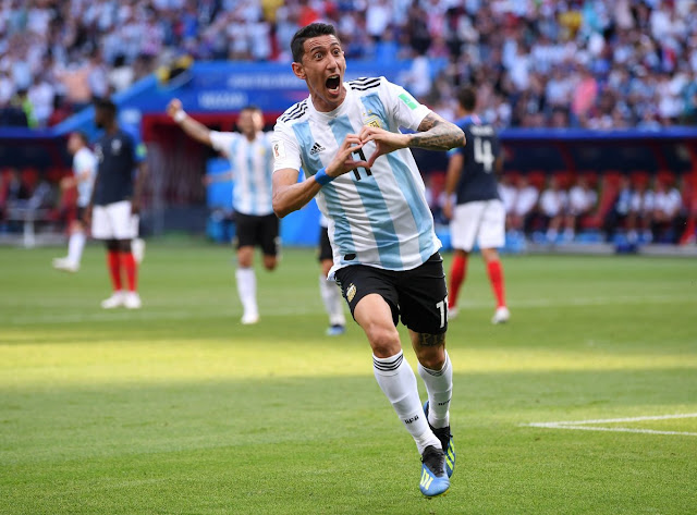 Goal! Di Maria scores a screamer | France 1-1 Argentina (Video) russia 2018
