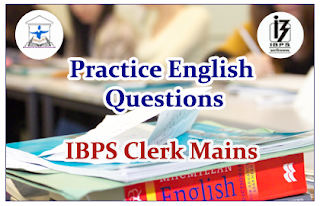 English Questions (Cloze test) for Clerical Mains