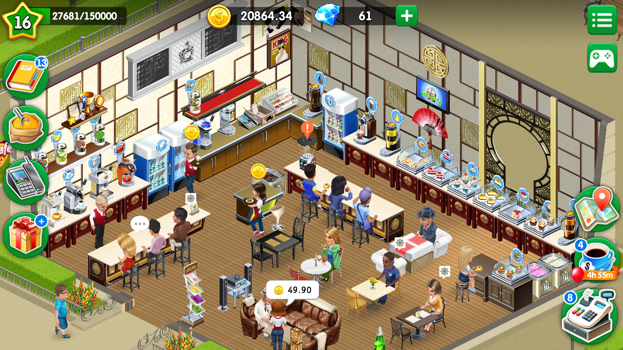 Review Game,My Cafe: Recipes & Stories