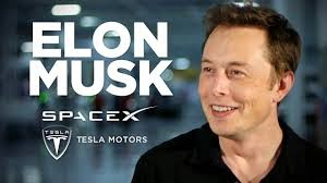 picture of Elon Musk with superimposed SpaceX and Tesla Motors logos