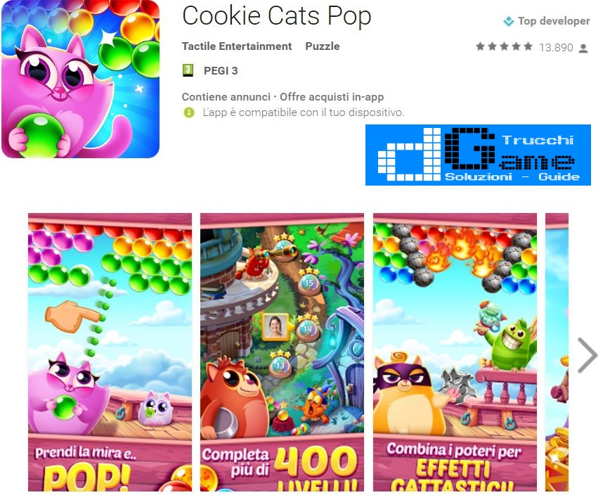 Trucchi Cookie Cats Pop Mod Apk Android v1.14.1