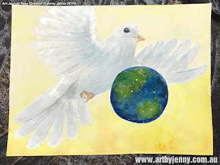 image showing the dove and the Earth