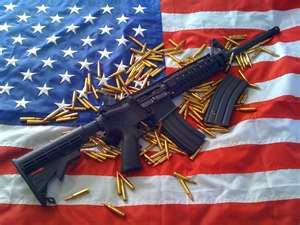 AR-15 with Flag