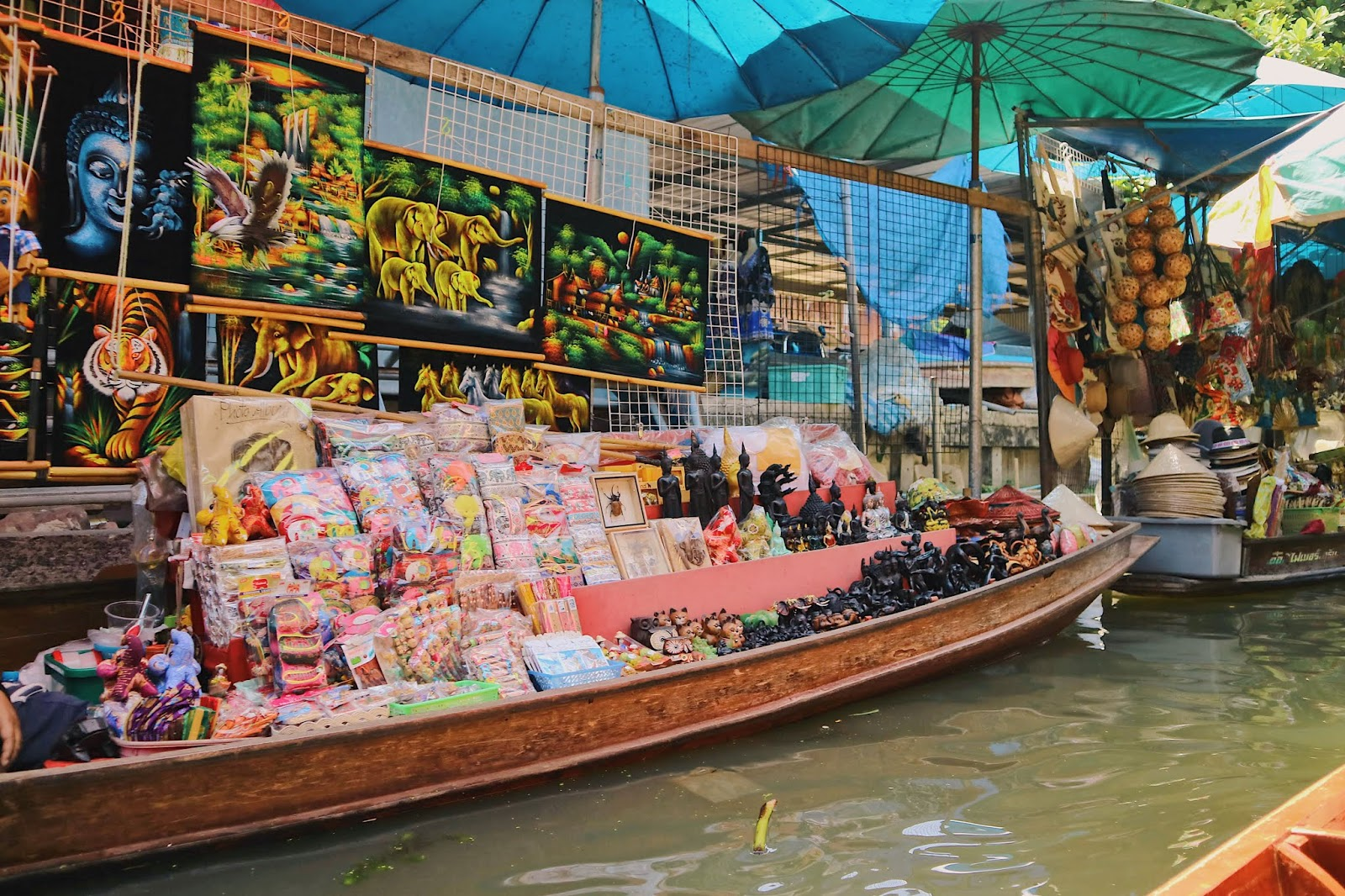 some of the goods sold at damnoen saduak floating market
