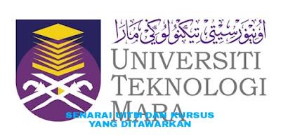 Senarai UiTM di Malaysia dan Kursus Yang Ditawarkan