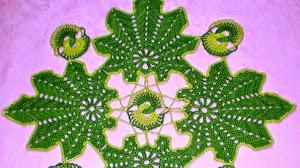Novedosa carpeta al crochet