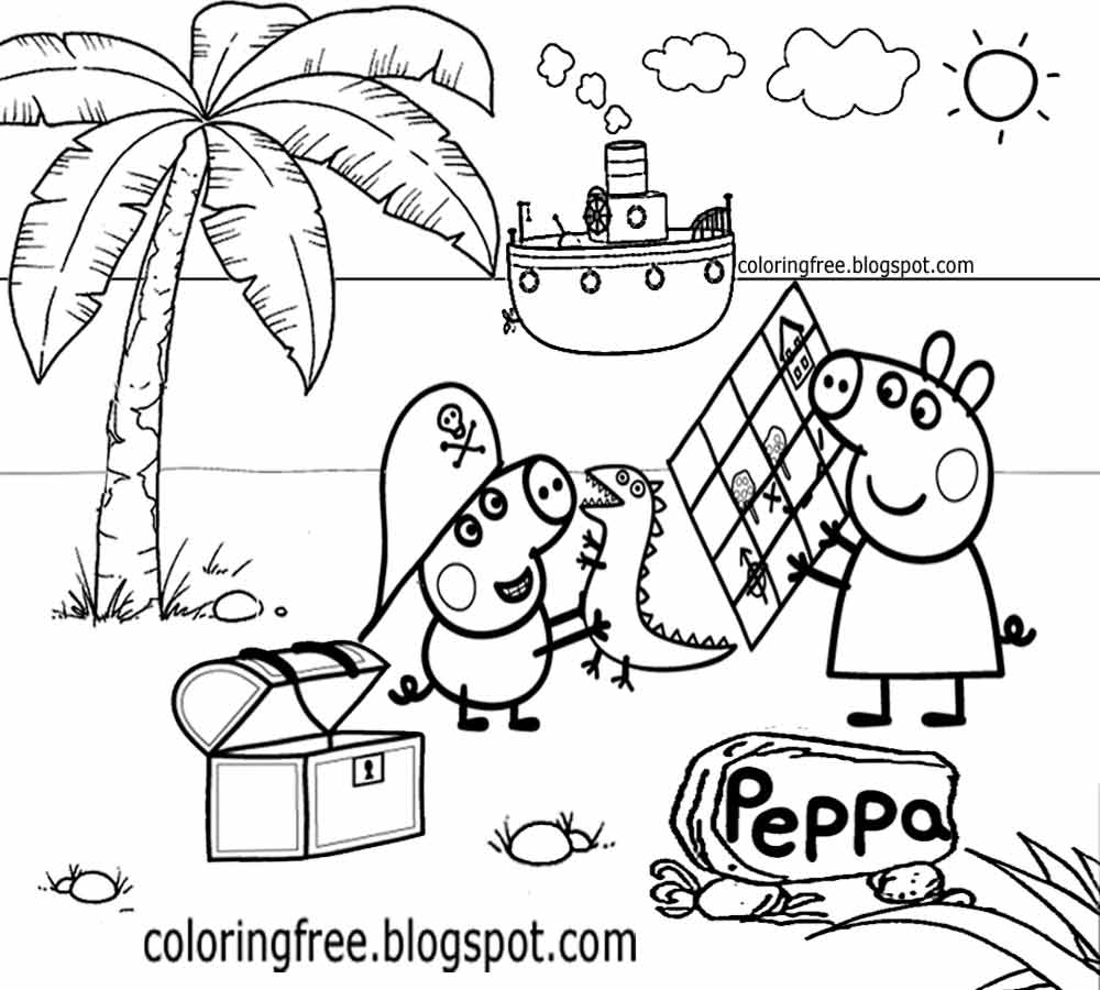 peppa pig coloring pages printable surprising peppa pig coloring