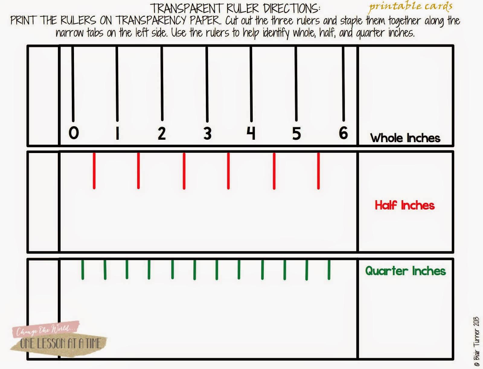 Blank Ruler Worksheet