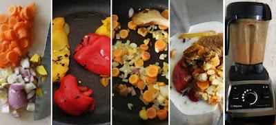 Zubereitung Schnelle Suppe aus gegrillter Paprika, Zubereitung schnelle Paprikasuppe