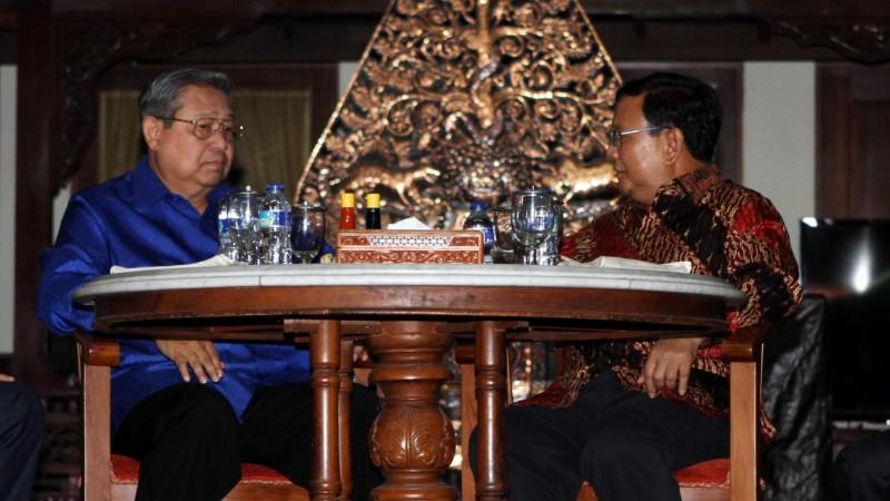 Pertemuan SBY dan Prabowo di Puri Cikeas