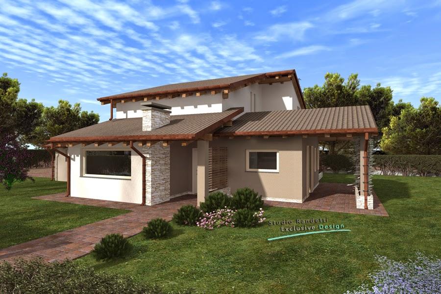 Studio randetti progettazione design villa for Casa moderna 2 piani